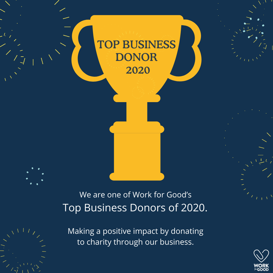 Top Donor 2020 - Work for Good