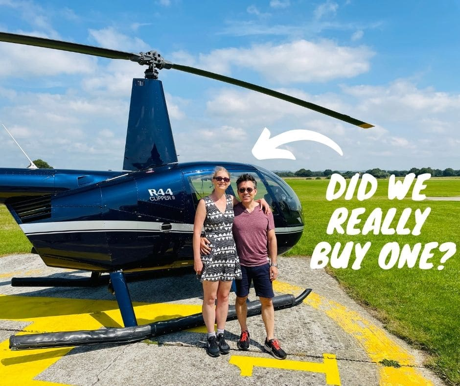 I got a Helicopter for my Birthday   Sarah & George Choy Property Podcast